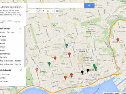 My Ultimate Toronto Shopping Map